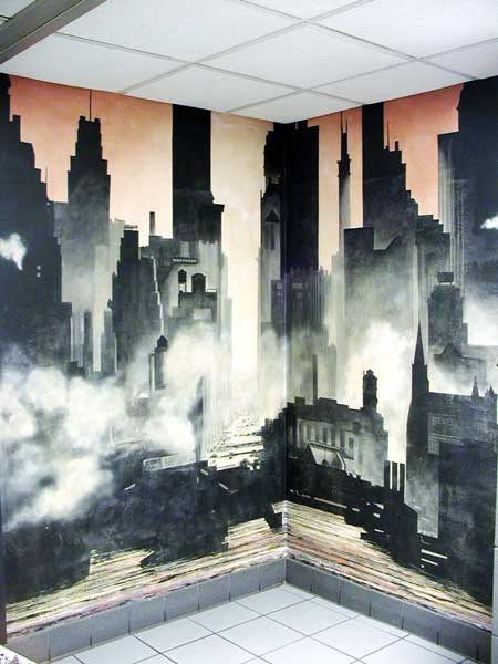 Murals cityscape for Cityscape murals photo wall mural