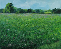 painting of a field of alfalfa